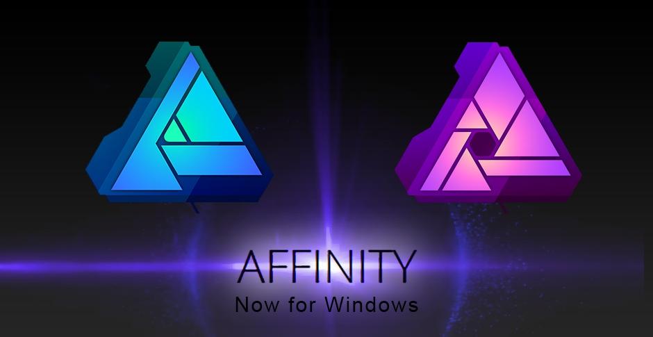 Dostupné grafické editory Affinity Designer aPhoto přišly na PC